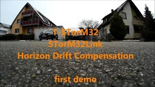 T-STorM32: STorM32Link Horizon Drift Compensation, first demo