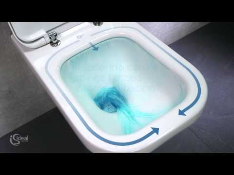 sistema di scarico per wc aquablade ideal standard. Black Bedroom Furniture Sets. Home Design Ideas