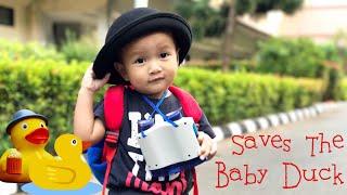 Drama Pahlawan Anak - Kenzo selamatkan Anak Bebek | Good Baby saved the Baby Duck