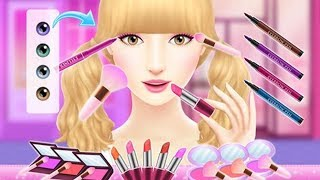Fun Kids Care Baby Game - Learn Colors Makover Hair Salon Game Angelina's Pop Star Girls Games