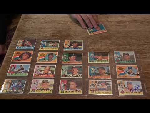This video shows some CLASSIC, vintage autographed 1960 Topps baseball cards that we have in our collection. Give us a thumbs up, subscribe to our channel, keep collecting and God Bless.