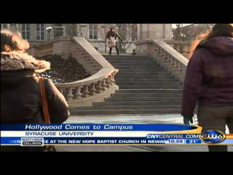 Emma Roberts and John Cusack on Syracuse University campus shooting ''Adult World''