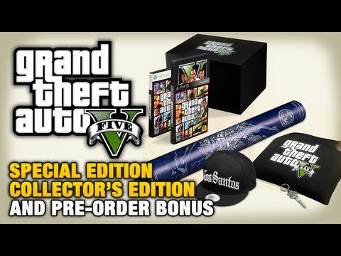 GTA 5 - Special Edition, Collector's Edition and Pre-Order Bonus