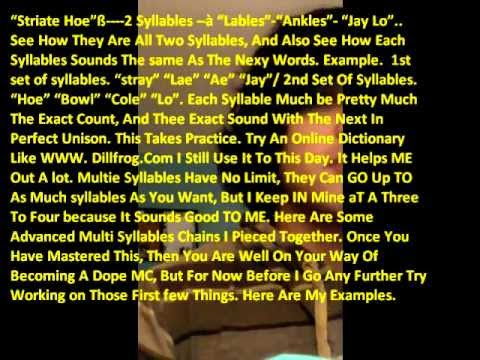 how to write good rap lyrics How to write a chorus that your listener will want to hear again (and again, and again) start a new lyric right now with these writing prompts for songwriters how to write a melody for any lyric.