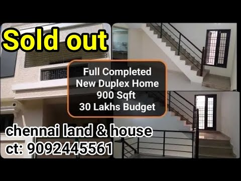 New Duplex Home/ Individual House 900 Sqft Plan Details In Tamil