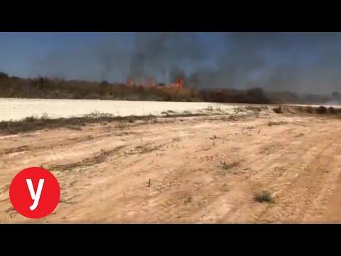 טרור הבלונים: שריפה באזור ניר עם