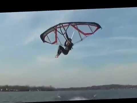 Flying a Kitewing on Whitmore Lake