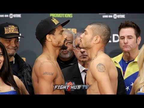 ANDRE DIRRELL VS JOSE UZCATEGUI 2 - FULL WEIGH IN AND FACE OFF VIDEO