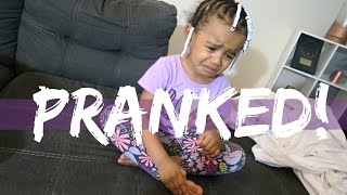Home Alone Prank On 3 Year Old Daughter