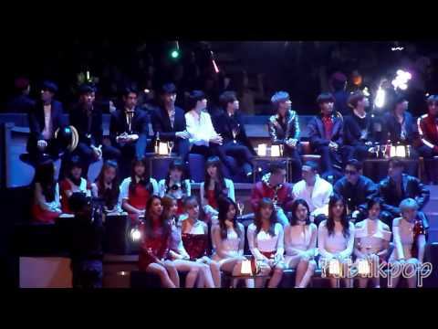 [REACTION FANCAM] 161202 MAMA - TWICE, GFRIEND, GOT7, NCT React To TAEYEON RAIN