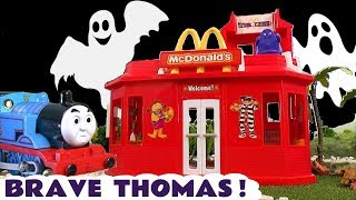 Thomas and Friends Brave Thomas Stories at the McDonalds Drive Thru  and with a dinosaur TT4U