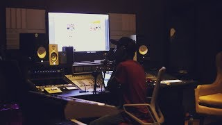 Johnny Drille working in the Mavin studio: New music coming soon....