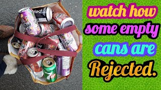 Watch how I recycle my empty can and bottle.