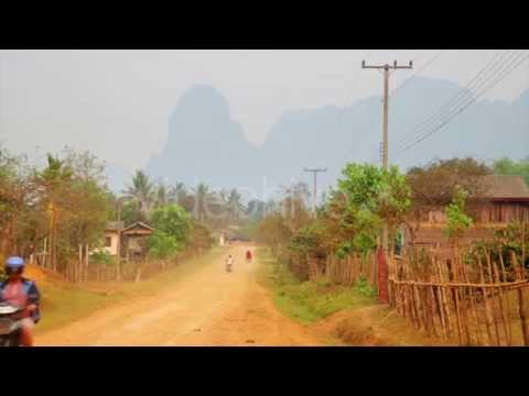 After Effects project - Vang Vieng Village With Limestone Mountains, Laos