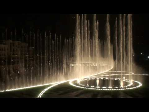 The Dubai Fountain - Time To Say Goodbye video