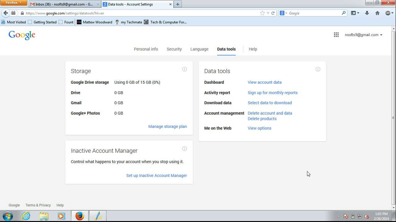 How to get Detailed Report of your Gmail Usage - YouTube