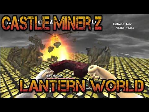 Castle Miner Z - LANTERN LAND!!!! (46.000 Distance)