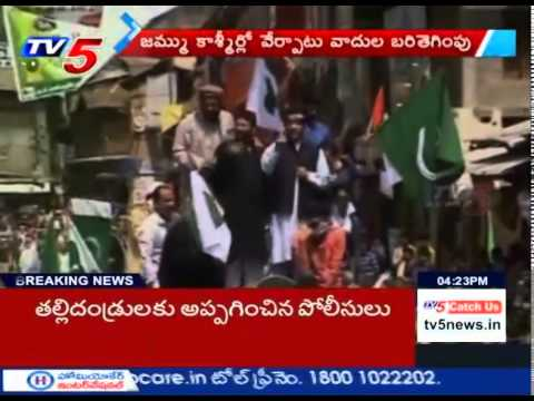 Pak Flags Waved at Shabir Shah's Rally | Anantnag : TV5 News