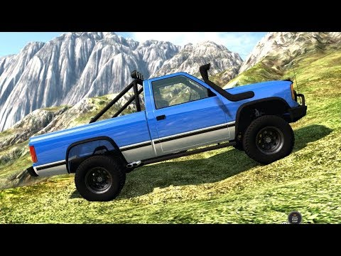 BeamNG Drive - D 15 Off Road Version on the Cliff Map