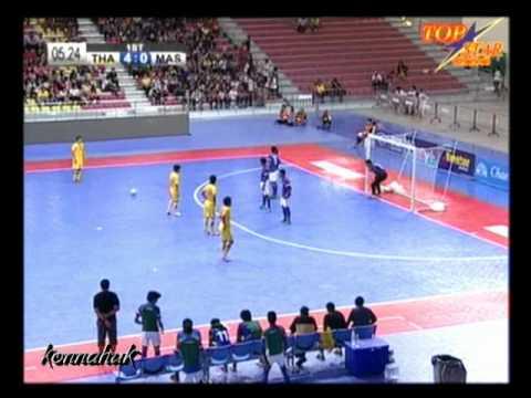 Thailand Vs Malaysia 12-1 [ Semi Final ] AFF Futsal Championship 2012