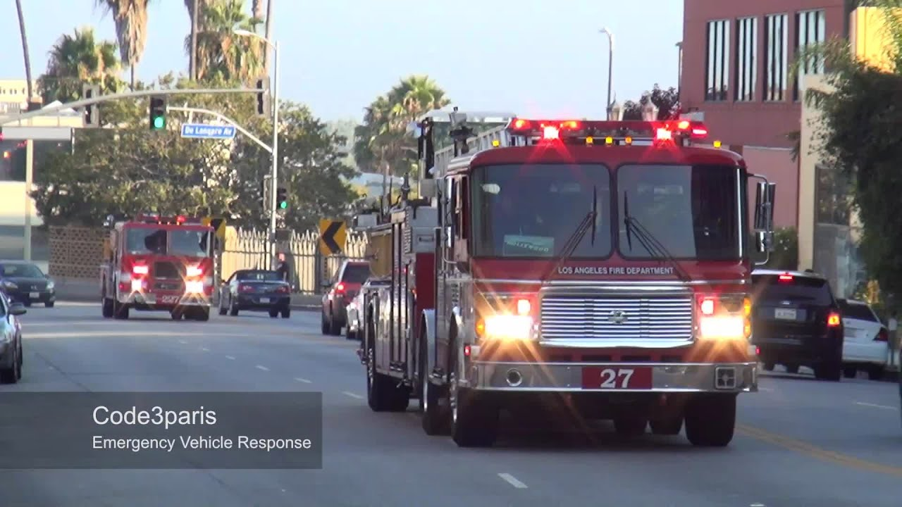 LAFD Light Force 27 (Truck 27 + Engine 227) - YouTube