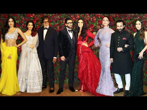 Deepika Padukone- Ranveer Singh's Star Studded Reception Full HD Video | Part 1