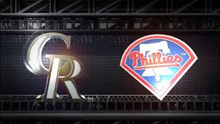 MLB The Show 18 (PS4) - Rockies vs Phillies Game 3 (Full Broadcast Presentation)