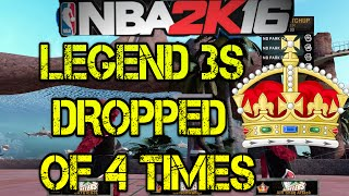 Nba 2k16 - Legend 3s dropped off 4 times!! - Does High Rep Mean Anything?