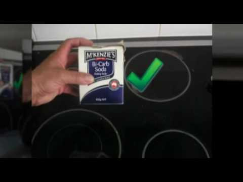 How  to Clean a Glass Ceramic Stove Cook Top Hob - 30 sec video