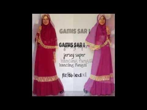 Jual Baju muslim gamis syar'i online bahan jersey modern harga murah meriah