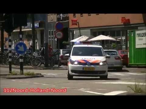 A1/PRIO 1 Ambulance & Politie Met Spoed In Amsterdam Amstelland [21-07-15]