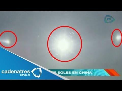 IMPRESIONANTES IMÁGENES Aparecen tres soles en el cielo de China