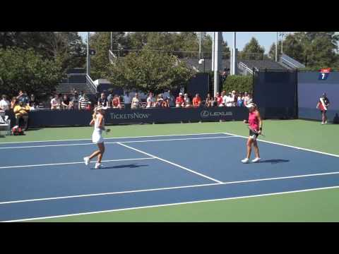 Maria Kirilenko/Elena Vesnina Womens Doubles 2nd Round US Open 2009 Video