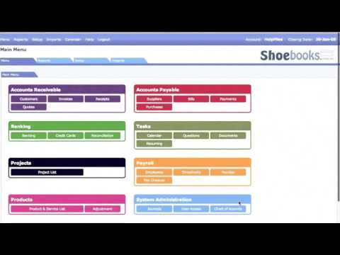 Take a guided tour of Shoebooks online accounting software