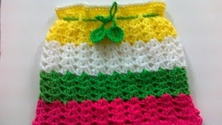 Crochet Rainbow Skirt-1
