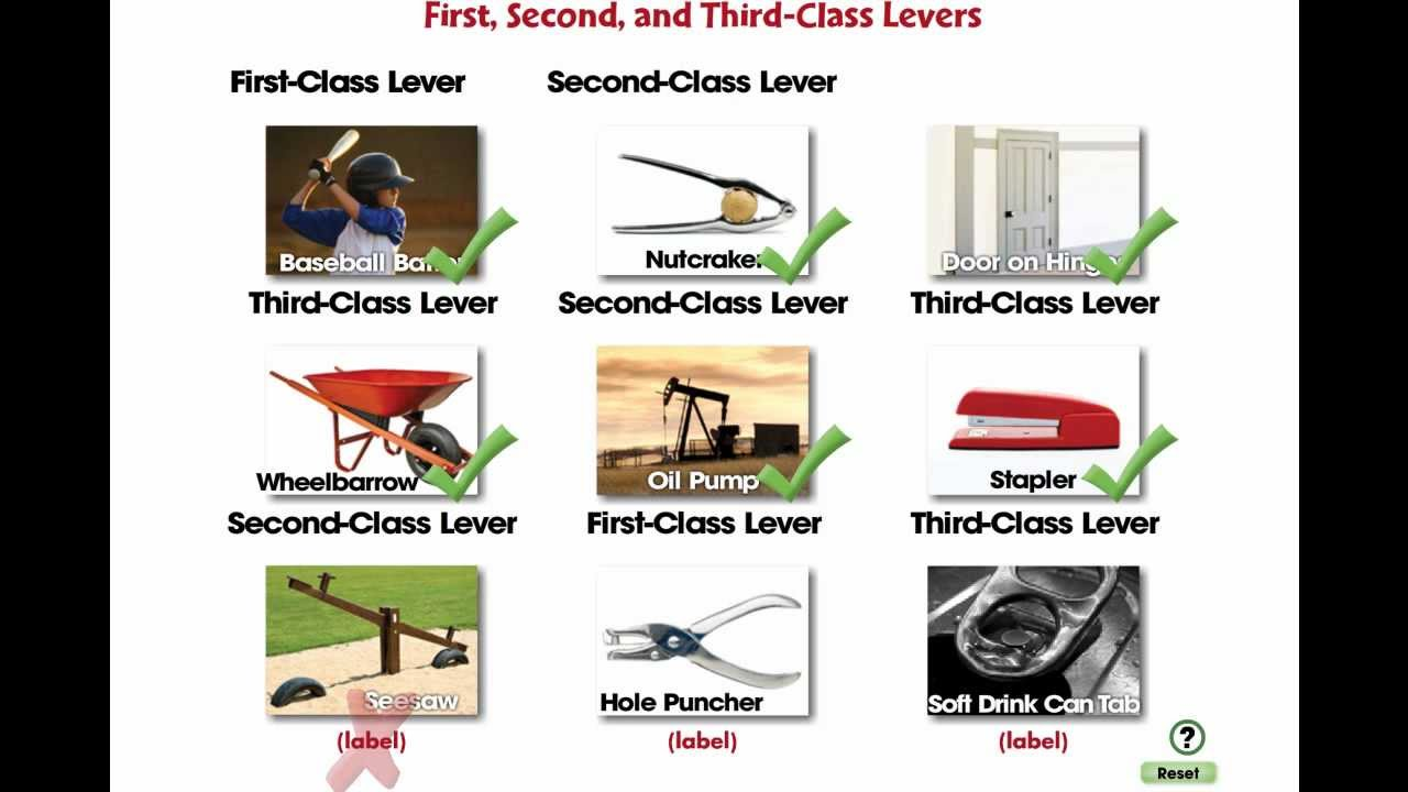 CC7555 Simple Machines: First, Second, and Third Class Levers Mini ...