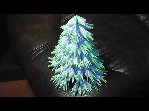 Модульное оригами новогодняя