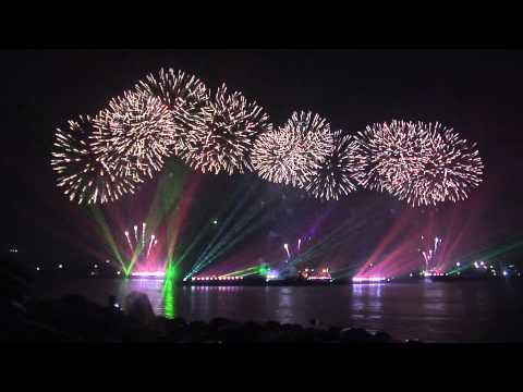 Салют на САММИТ _laser & firework show at APEC summit .