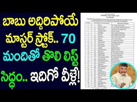 బాబు అద్దిరిపోయే మాస్టర్ స్ట్రోక్  70 మందితో తొలి లిస్టు సిద్ధం | Tdp MLA candidates List  | Taja30