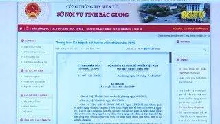 Thông tin về đợt xét tuyển giáo viên, công chức, viên chức tỉnh Bắc Giang