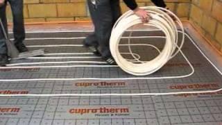 cuprotherm fu bodenheizung verlegen mit flexiblem kupferrohr von wieland. Black Bedroom Furniture Sets. Home Design Ideas