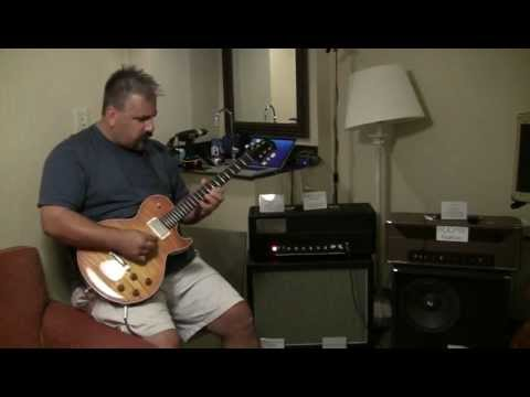 Stephan Lipinski jazzing out Chuck Hammer's custom Booya - NY Amp Show 2012