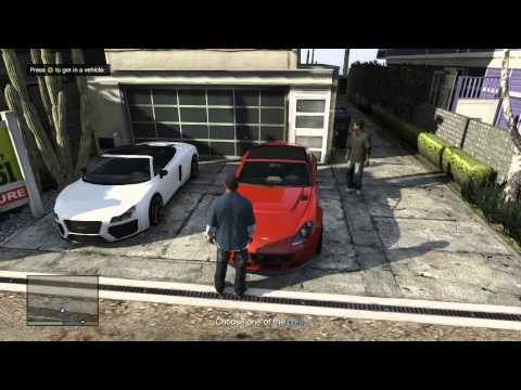 Grand Theft Auto V first mission gameplay