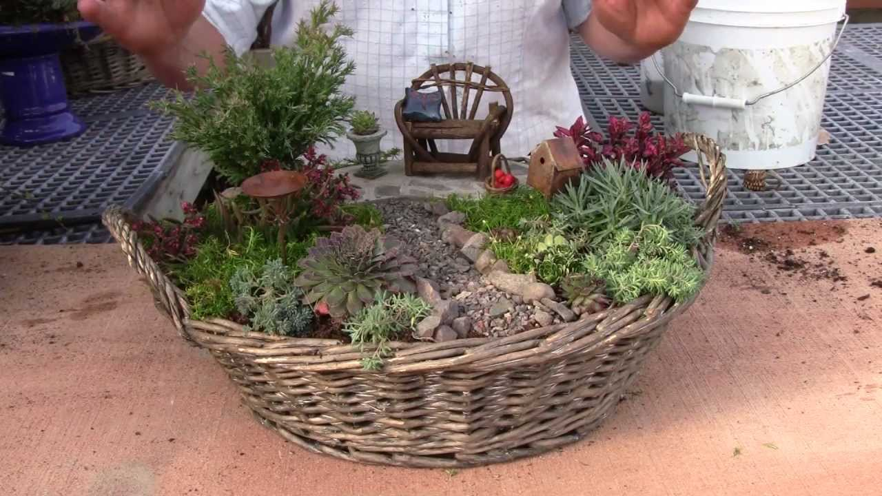 Planting A Miniature Garden Container Youtube