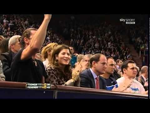 Ladies and gentlemen  : Roger's backhand  VS Tsonga in Paris 2011  Unbelievable!!!