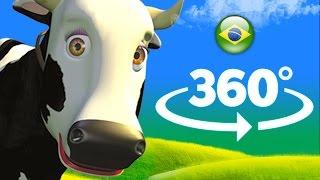 A vaca Maru - 360 graus - A Fazenda do Zenon  O Reino das Crianças
