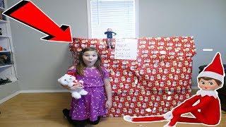 Huge present From My Elf On The Shelf! Elf On The Shelf Present Scavenger Hunt!