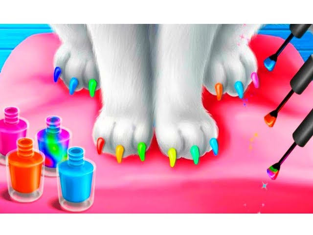 Мультик про котят Котенок Китти в спа как Анджела Маникюр и готовка челлендж Веселая игря для детей
