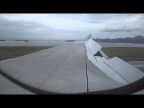 A330 Cathay Pacific landing in Chek Lap Kok airport