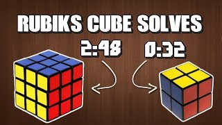 Rubik's Cube Solves | 2x2 & 3x3